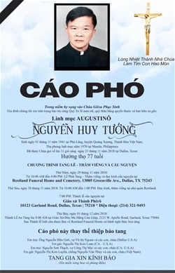 cao pho linh muc augustino nguyen huy tuong ta the tai texas
